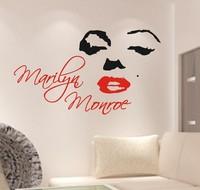Free Shipping Marilyn Monroe Home Decor Decorative Decals Modern Art Wall Sticker