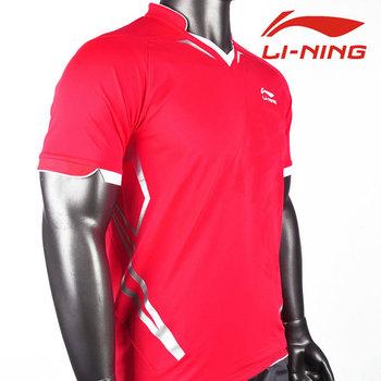 Men Table tennis T-shirt: professional tournament T-shirt,Li-ning table tennis T shirt,Li-ning AAYF399 AAYF401