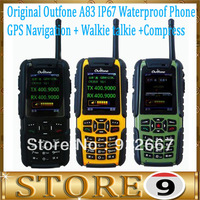 "Original Outfone A83 IP67 Waterproof Dustproof 2.0"" LCD GSM Quad-band IP67 Rugged Outdoor Mobile Phone With PTT Camera GPS FM"