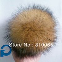 Racoon fur pom charm large ball charm D13cm fur pom big fur ball soft & puffy free ship 36pcs/lot
