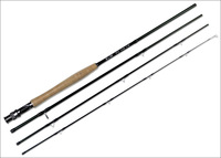 Fly fishing rod -carbon fiber pole 2.43m 8'  with 4 sections , cork handle
