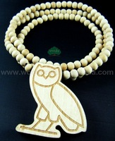 Rosary BEAD CHIAN Drake OVOXO Owl Hip Hop Good Wood Necklace Chain FAST SHIPPING