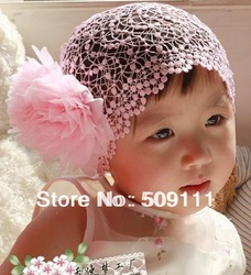 Pink and red Color Flower Headband Baby Girls Elastic Hairband Hair Accessories Headwear 2pcs HB052(China (Mainland))