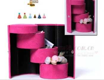 Free shipping Flannelet  shaped jewelry box storage box cosmetic box