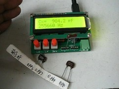 Free shipping,L/C High Precision Meter Inductance Capacitance Meter LC Test with 2pcs Clips
