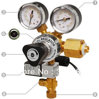 Co2 Working Pressure Adjustable Solenoid Regulator 100~240v  Marine Water Plant Aquarium NEW