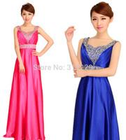 1PCS New Fashion Woman Korean Double Shoulders Long Formal  Evening Party Dress FZ131