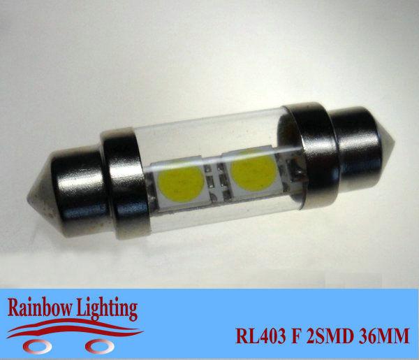 Free shipping (20pcs/lot)12V FESTOON 2SMD 36mm LED auto ceiling light bulbs LED Reading bulbs RL403(China (Mainland))