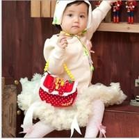Hot sale Cute Bowknot girl's princess bag wallet purse portable messenger children handbag 2colors in stock  820004J