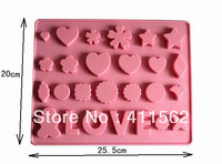LOVE Chocolate Muffin Cup Cake Jelly Candy Ice Cupcake Tray Mold Mould Maker,Drop Shipping,WH29