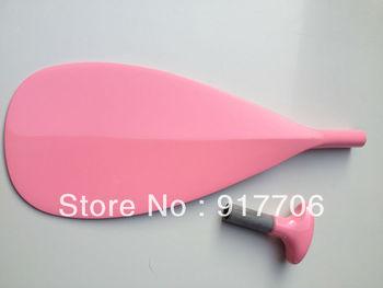 Pink fiberglass SUP paddle/surfboard paddle