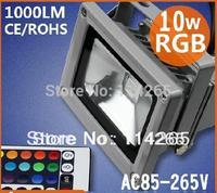 Waterproof  RGB 10W/20w/30w AC85-265VLED Flood light Outdoor +24key controller remote free shiping