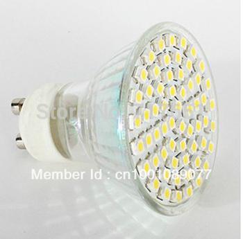 10X  4W GU10  LED 3528 60 SMD Pure/ Warm White LED High Power Spot Light