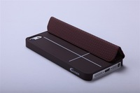 2012 New Arrival Black Guoer Ultra Slim Magnetic Smart Hard Cover Stand Case For iPhone 5 5S With Simple box free shipping