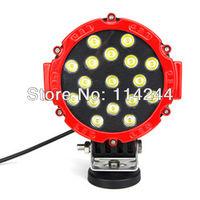 """6.3"""" 51W 10-30V 3500LM LED Work light Off road working lighting Truck light Fog lamp"""