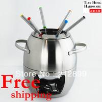 TianHong Free shipping stainless steel new style cheese fondue Chocolate fondue