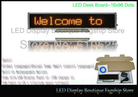 Russian LED panel,LED Moving screen,LED Message Board,LED Mini Display SMD Free shipping 5pcs/lot 16*96 Yellow color