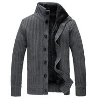New winter men's coat inside fur jacket for men overcoat male thickening plus size wool casual sweater man outerwear