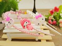 Free shipping hot wholesale Hello Kitty 20pcs/lot,girl princess pearl hair clips,babys fashion headband,kids hair accessories
