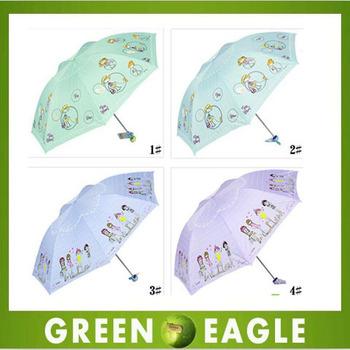 Free shipping child umbrella cartoon umbrella anti-uv umbrella children sun protection umbrella retail 4 designs