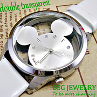 free shipping new 2013 promotion cute mickey women's watches, quartz movement fashion wrist watches for lady girls