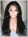 glueless lace wig kinky curl for black woman  mongolian virgin human hair full lace wig free shipping now!