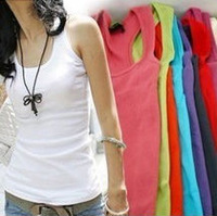 Cotton long T-shirt /vest women Free shipping quality guarantee Mix Colour hot vest 12pce/lot stock Available women Tanks