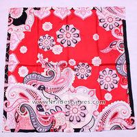 women fashion silk square twill neckerchief