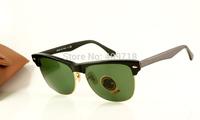 Hot Selling Designer Sunglass Men's/Women's Fashion 4175 Oversized Clubmaster 877 Black Sunglass Green Lens 57mm Case Box