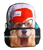 Free Shipping New 17inch Dog printing school backpack bag BBP106