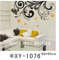 2pcs/lots 60x90cm stikers Black Large Wall Background Sofa TV Background decorative waterproof wall stickers KW- XY1076
