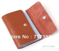 Promotion! Fashion  GENUINE LEAHTER card wallet, business name card holder,promotion gifts,12 colors available