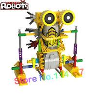 LOZ plastic toy electric block mechanical robot