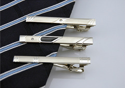 3PCS/Lot Men Metal Silver Tone Simple Necktie Tie Bar Clasp Clip(China (Mainland))
