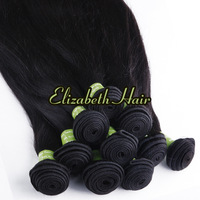 "16""-28"" 3pcs/lot 5A Remy Indian Virgin Hair Straight Weft Extension no Tangle Free Shipping"