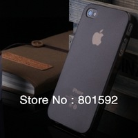 5pcs/lot Free Shipping Soft matte transparent case for iphone 4 4G 4S 0.5mm ultra thin crystal case