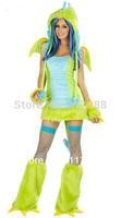 ML5073 High Quality Sexy Woman's Dragon Cosplay Halloween Fancy sexy Dress Dragon Costume Wild Puff Monster Animal Costume