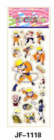 20 Sheets Combo Deal, Free shipping TY0020 Pikachu Stickers, Naruto Stickers, Japanese Anime Stickers Wholesale