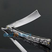 New Straight Edge Aço Inoxidável Shaper Barber Navalha Folding Shaving Faca Alumínio Frete Grátis!(China (Mainland))