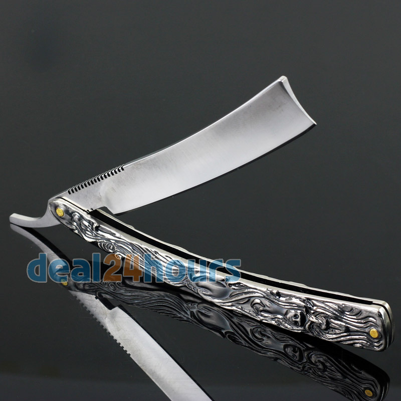 New Straight Edge Stainless Steel Shaper Barber Razor Folding Shaving Knife Aluminum Free Shipping!(China (Mainland))