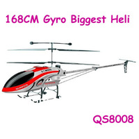 2013 Newest 3.5CH Biggest 168CM Wireless RC Helicopter QS8008 with Gyro RTF QS 8008 bigger than qs8006 WITHOUT BATTERY