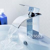 Deck Mount Basin Faucet Chrome Vessel Basin Mixer Tap Vanity Faucets Brass Tap Sink Faucet Swan Items L-0137 Mixer Tap Faucet