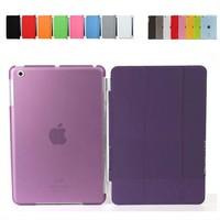 iPad Mini Magnetic Front Smart Cover +Crystal Hard Back Case For iPad Mini Multi-Color 50pcs/lot for  free shipping