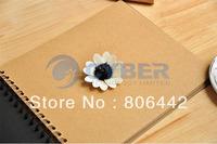 Korea Creative Stationery Gold Blocking DIY Greeting Travel Photo Album Diary with Stickers  8734