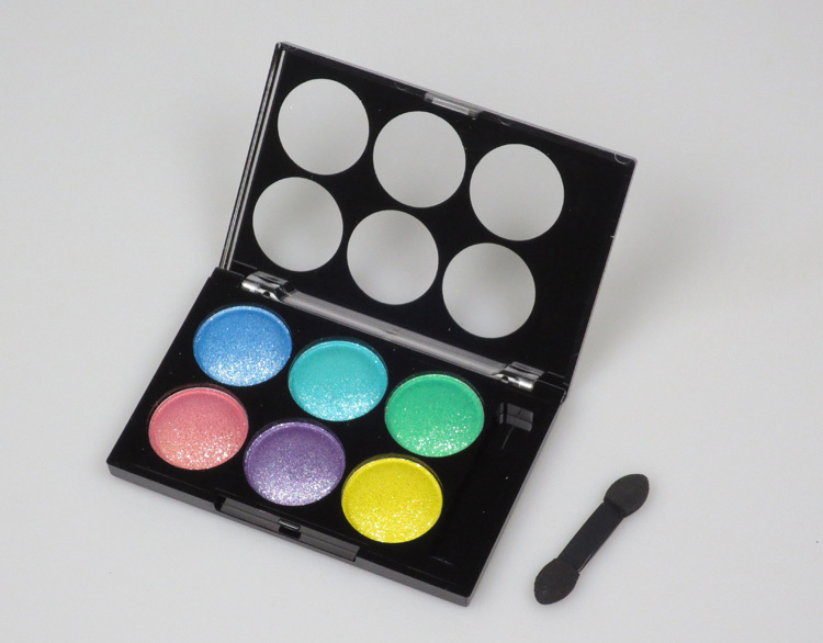 5pcs Glitter Powder Eyeshadow 2 colors in one Single Package Makeup Cosmetic Products Free Shipping(China (Mainland))