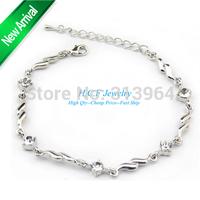 Free Shipping 2014 New Fashion Bracelet Jewelry Han edition bracelets eight heart eight arrows ShanZuan crystal bracelet chains