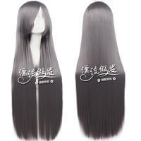 80cm straight hair cosplay silver grey Dark gray cos wigs