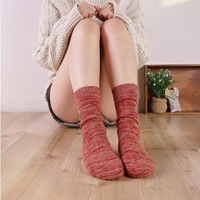 vintage sock, 100% cotton soft  thick knitted socks for autumn and winter