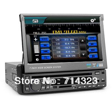 "Single 1 Din 7"" Touch Screen Car Stereo In Dash DVD Player GPS Navigation Radio Audio Head Deck Bluetooth Radio Audio Ipod TV(China (Mainland))"
