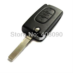 3 Buttons FOB Blank FLIP Remote Key Case For PEUGEOT Citroen(China (Mainland))